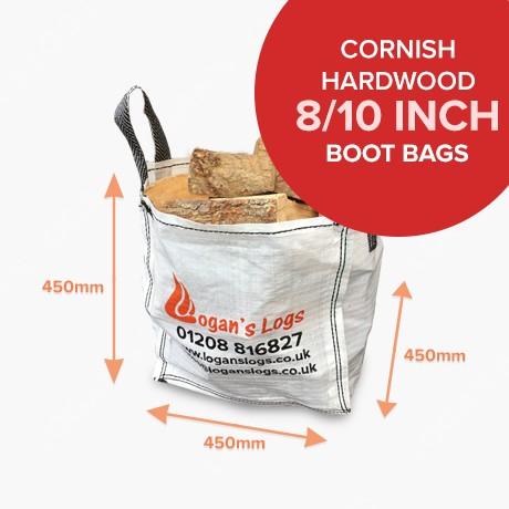 Kiln Dried Cornish Hardwood in Boot Bags