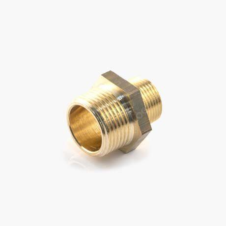 Brass Hexagon Reducing Nipple