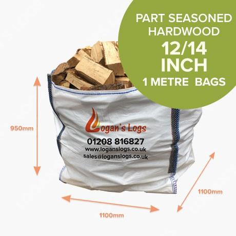 1 Cubic Metre Bags - Part Seasoned Hardwood