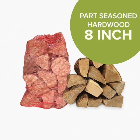 Part Seasoned Hardwood in Nets