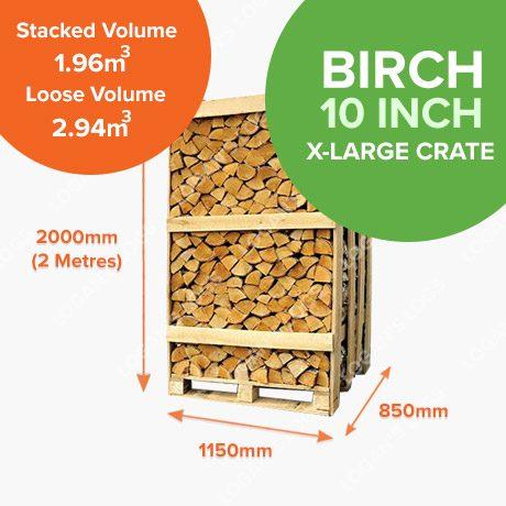 Kiln Dried Birch Crates - X-Large Crate