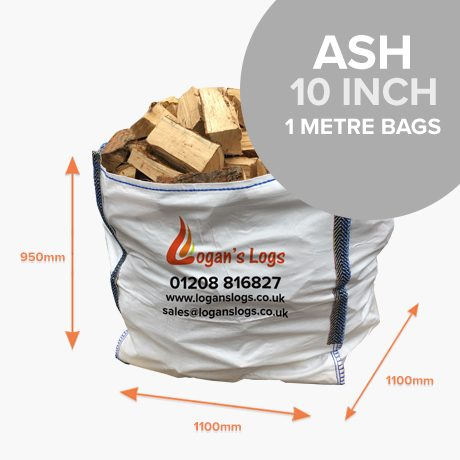 Kiln Dried Ash Hardwood in 1 Cubic Metre Bags