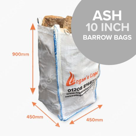 Barrow Bags of Kiln Dried Ash