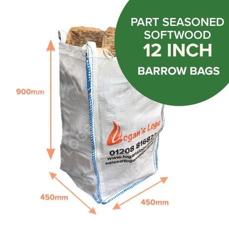 Barrow bags of Part Seasoned Softwood