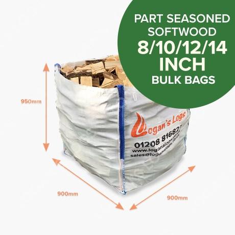 Bulk Bags of Part Seasoned Softwood