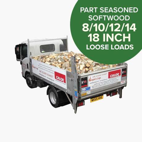 Loose Load of Part Seasoned Softwood