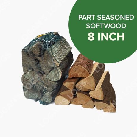 Part Seasoned Softwood in Nets