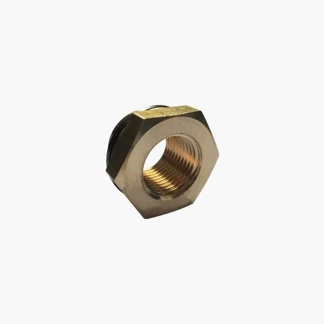 Brass Threaded Hexagon Reducer-3-4-1-2-top