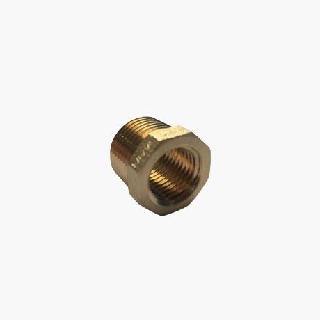 Brass Threaded Hexagon-Reducer Bush 3-8 BSP-= M-x-1-4-BSP-F-thread