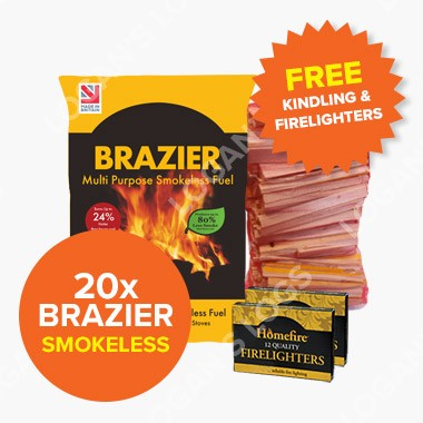 Special Offer - 20 Bags of Brazier Smokeless Fuel