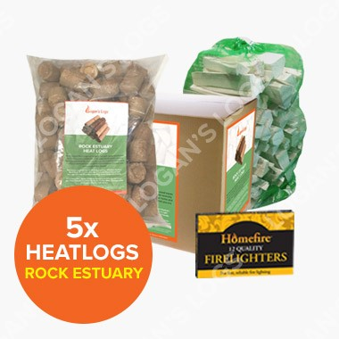 Special Offer - 5x Rock Estuary Heat Logs