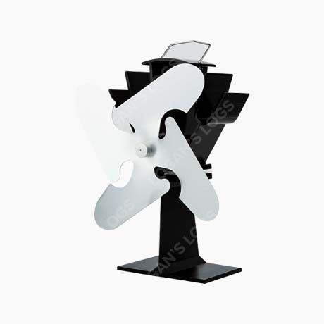 4 Blade Stove Fan - Silver