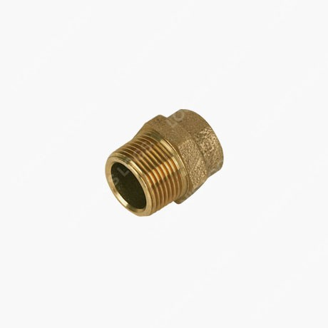 "brass 15mm solder 1/2"" male straight connector"