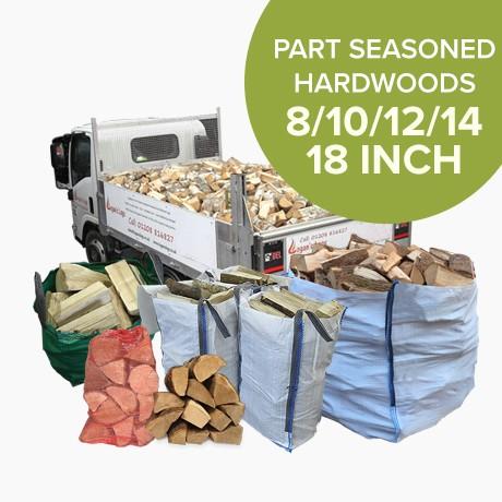 Part Seasoned Hardwood Logs