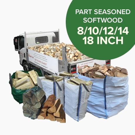 Part Seasoned Softwood Logs