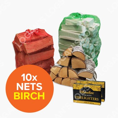 Special Offer - 10x Kiln Dried Birch in Nets