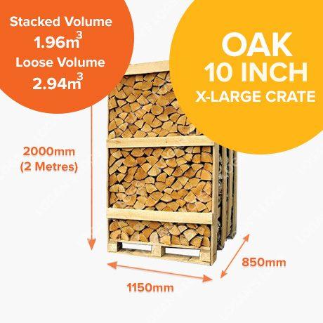 Kiln Dried Oak Crates - X-Large Crate