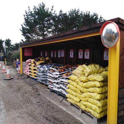 Coal Bags in the Lane