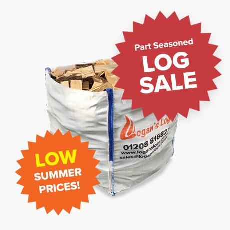 Summer Sale - Part Seasoned Hardwood - Bulk Bags