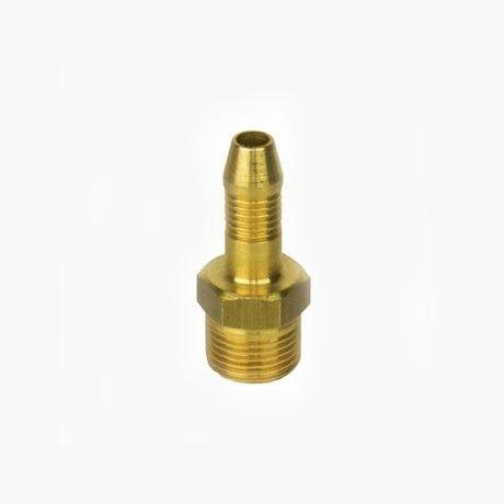 """6.3mm High Pressure Gas Hose Nozzle x 3/8"""" BSP Male Taper"""