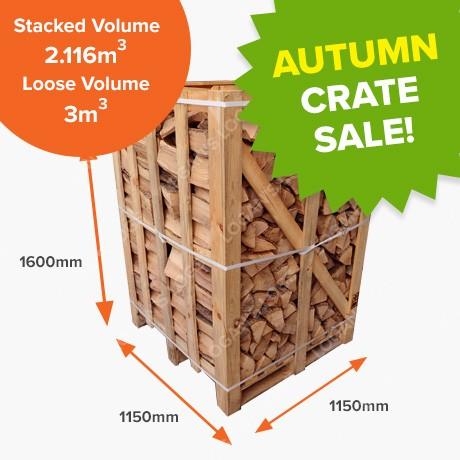 Autumn Crate Sale - Kiln Dried Birch - Full crate