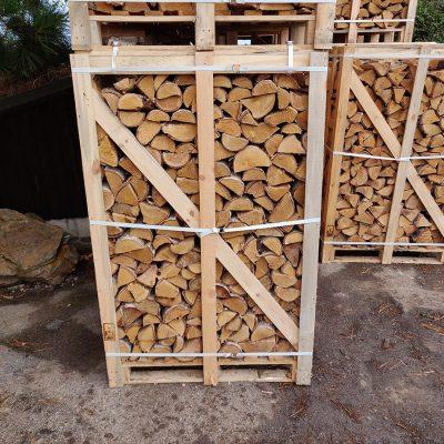 Fresh Birch in Crates